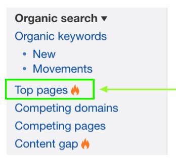 Organic Search ahrefs