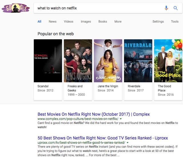 Netflix Google Search