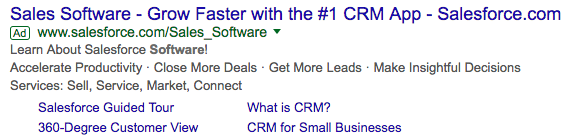 An example of a PPC ad