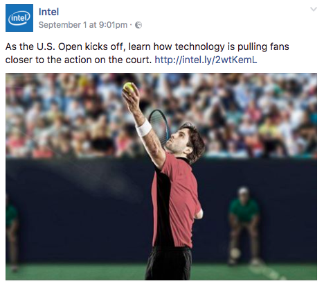 Example of social media post from Intel showing how to provide context to content.