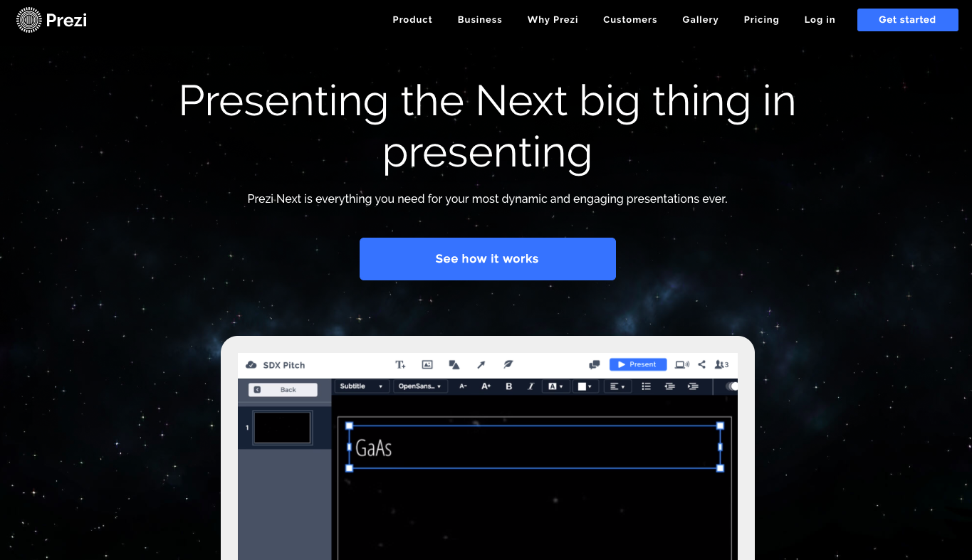 Example of a strong homepage design.