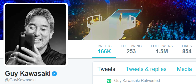Guy Kawasaki's Twitter account